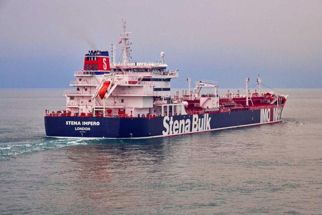 伊朗革命衛隊宣布,在荷莫茲海峽扣押一艘英國油輪。圖為Stena Importo號油輪的資料照片。(路透)