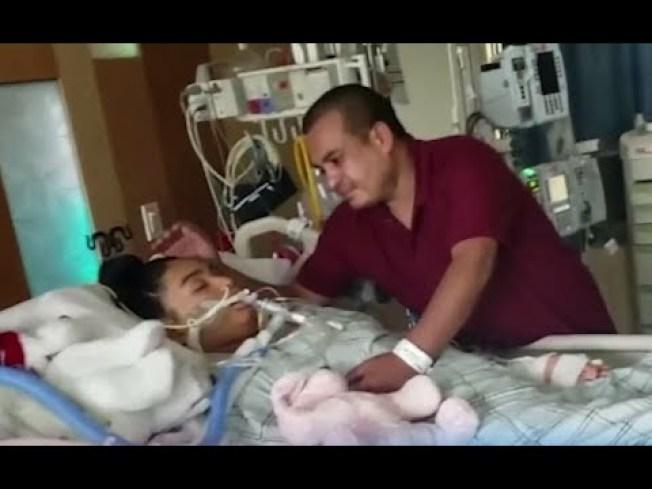 來自宏都拉斯的13歲移民女孩海蒂,因川普總統的反非法移民政策,令她遠離被拘留的父親,使她無法接受上吊自殺,經過兩周搶救無效後,她的父親曼紐爾日前決定拔管,讓她安然離去。(取自YouTube)