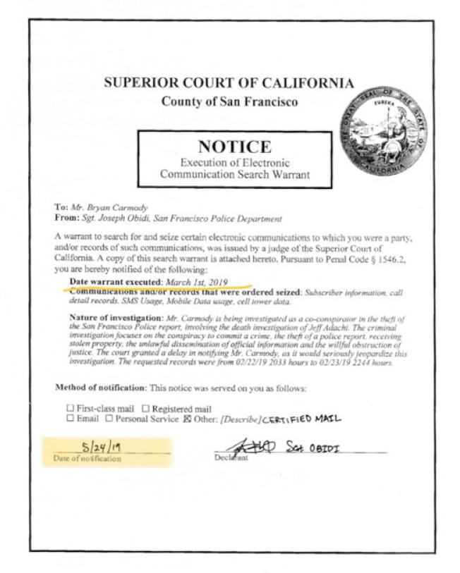 3月1日最先簽發手機搜索令的法官伊斯特,裁決警局申領的該搜索令無效。(卡莫迪提供)