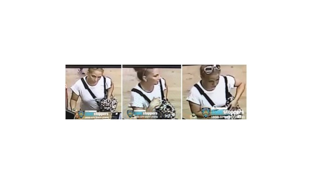這名女性涉嫌在法拉盛的健身房內盜竊財物。(市警提供)