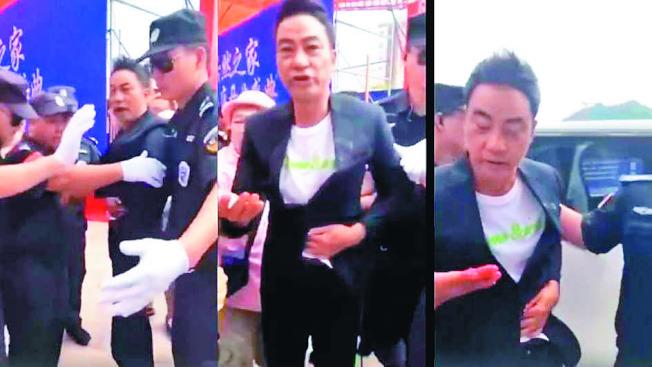 任達華20日出席活動遭暴徒捅刀攻擊。(取材自微博)