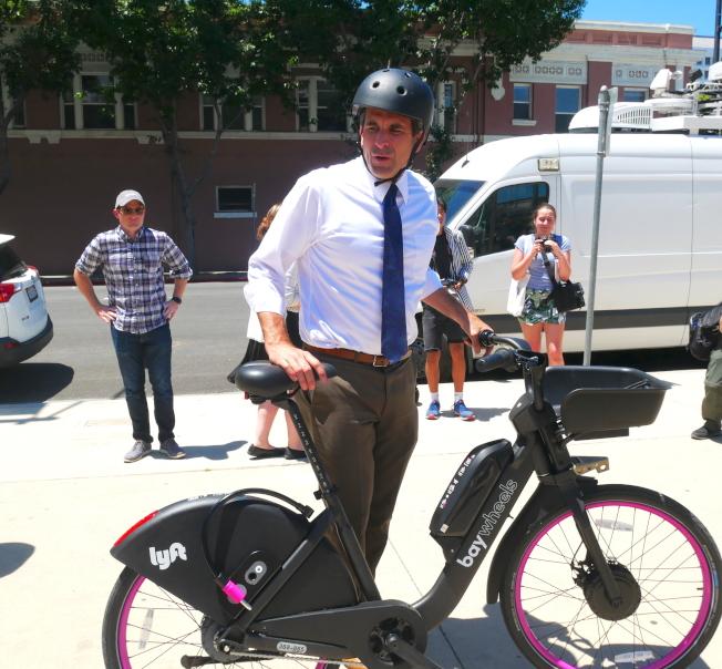 聖荷西市長李卡多也是騎行愛好者。(本報檔案圖)