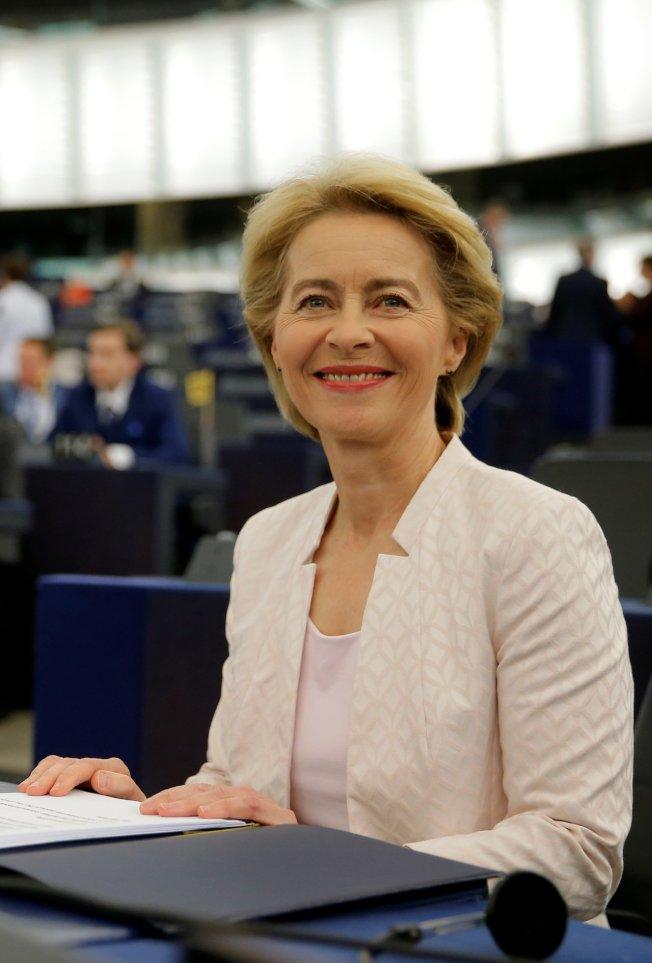 歐盟執委會首位女主席范德賴恩。(路透)