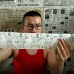 瀋陽小伙 衛生紙畫水滸108將 全長7.56米、耗時4天