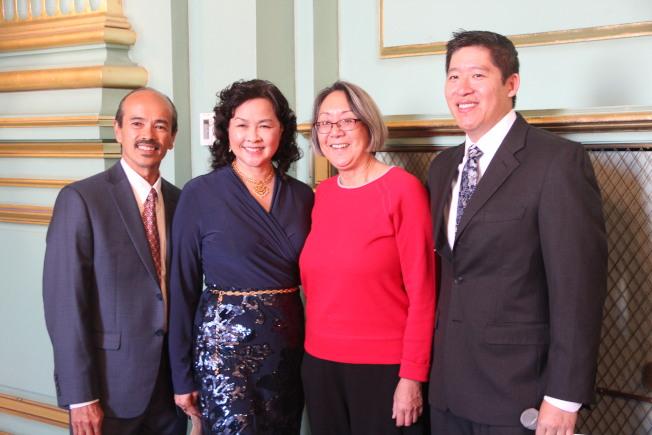 亞裔家援服務處慶祝32周年。(記者李晗╱攝影)