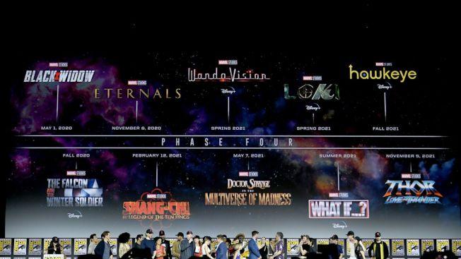 五部電影、五部迪士尼劇集構成漫威第四階段。(圖:漫威提供)