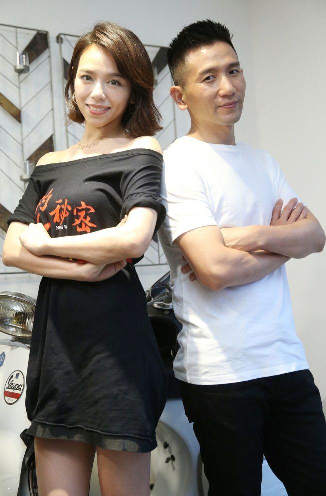 夏于喬(左)、導演趙德胤。(記者曾學仁/攝影)