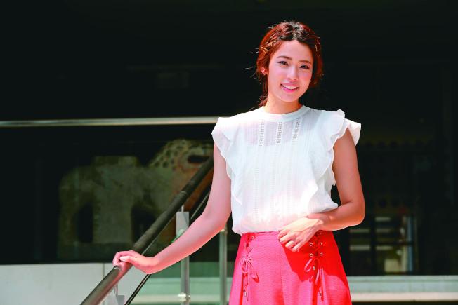 林思宇第一次演戲就當偶像劇女主角。(記者徐兆玄/攝影)