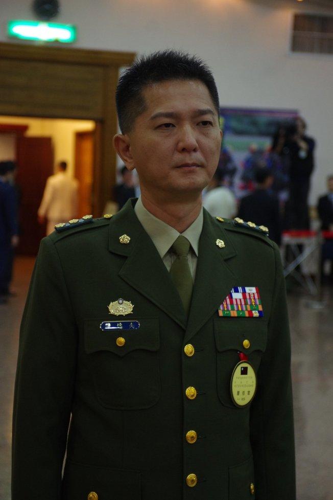 永和警衛室主任陳逸夫少將。記者程嘉文/攝影