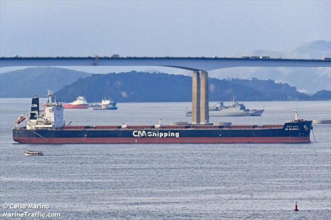 南韓CK Bluebell號貨船。圖/Marine Traffic