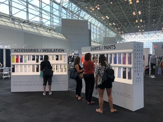 「機能性紡品展」中,台灣業者占全部參展廠商的50%以上。(記者張晨/攝影)