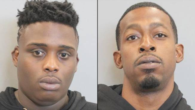 休士頓警局宣布21日追捕行動中逮捕兩名嫌犯,左為30歲嫌犯柯曼、右為25歲特納。(KPRC電視台/休士頓警局提供)