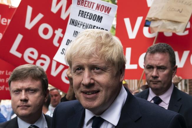 英國前外相強生篤定獲選新首相。(歐新社)