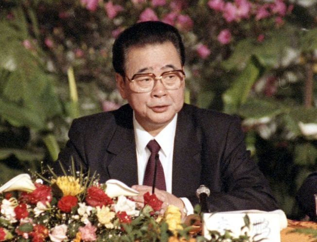 北京消息人士透露,前總理李鵬22日晚間11時逝世,享年90歲。(本報系資料照片)