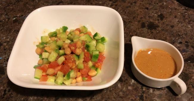 三色沙拉拌鹹蛋味噌醬