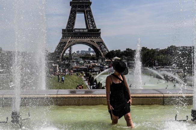 法國今年6月提早迎來夏季第一波熱浪,最高溫達攝氏46度。這週面臨第2波熱浪,預料包括巴黎在內的一些地區氣溫會高到42度,可能打破巴黎歷來高溫紀錄。Getty Images