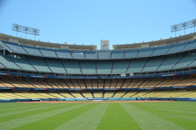 道奇體育場翻修完畢後,將迎來全明星賽。(道奇隊提供)