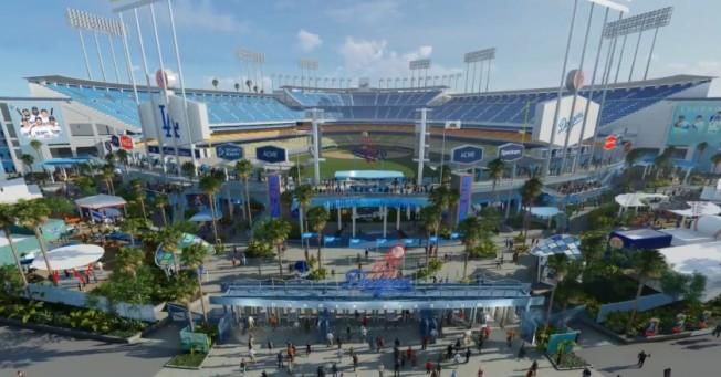 道奇體育場將耗資1億元翻修。(道奇隊提供)