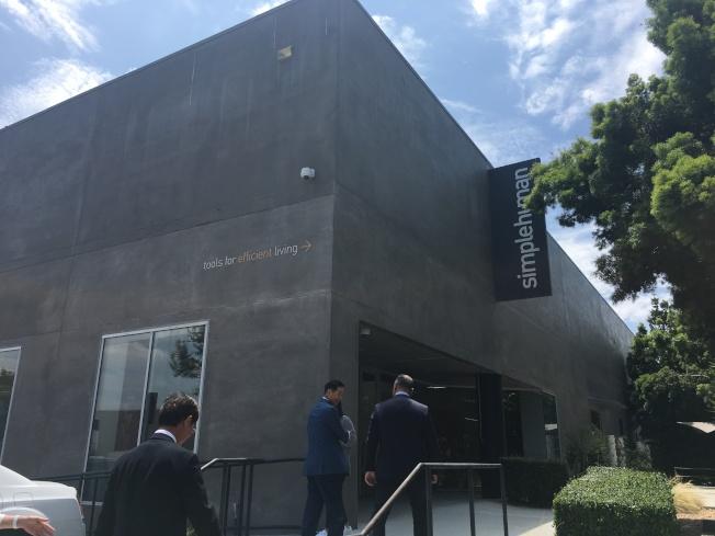 楊信大兒子Frank Yang的品牌Simplehuman走現代摩登風格。(記者謝雨珊/攝影)