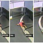 2歲娃爬上行李輸送帶被運走 媽來不及救