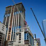Perla建案35層住商兩用樓封頂
