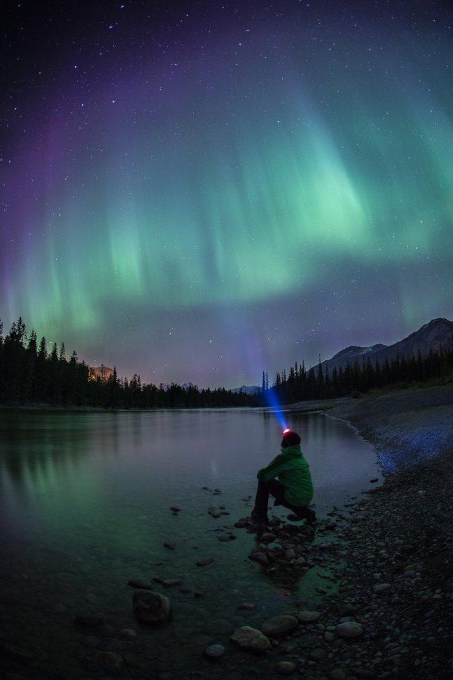 冬季可在賈斯伯國家公園觀賞玄妙的北極光。(Tourism Jasper供圖)