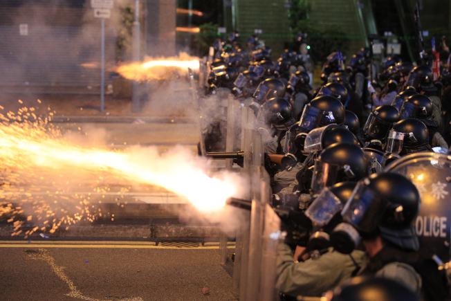 香港局勢越來越緊張。美聯社