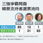 台灣總統大選 3張圖看最新民調:藍綠對決 韓蔡平手