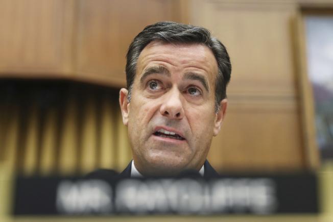雷克里夫獲川普青睞成為新一任國家情報總監繼任人選。美聯社