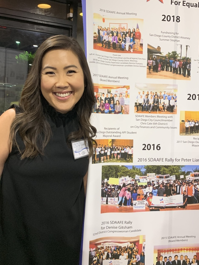 第77區韓裔州議員候選人June Yang Cutter已獲得共和黨、平權會及多名政府官員背書支持,呼聲最高。(記者陳良玨/攝影)