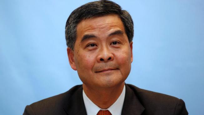 中國全國政協副主席、前香港行政長官梁振英。路透資料照片