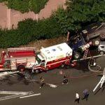 新州連環車禍 警消、救護車都撞上