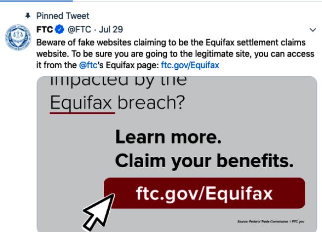 FTC提醒民眾防止釣魚網站。(取自網路)