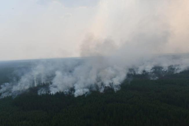 森林野火橫掃西伯利亞,今年火勢規模達到異常等級,恐對環境造成長期影響。(路透)