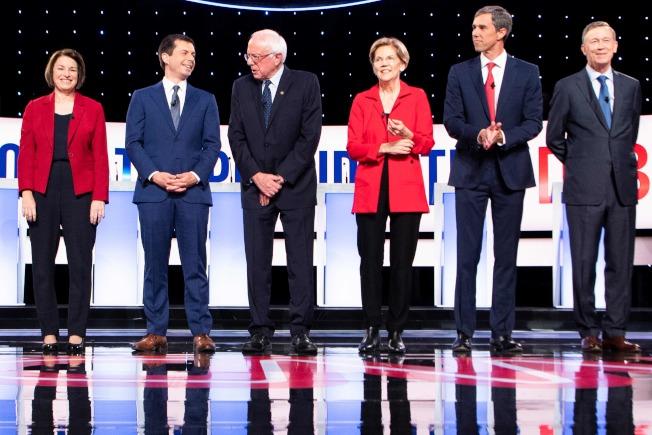 民主黨第二場辯論被指為決定參選人是否還能繼續參選的關鍵。(Getty Images)