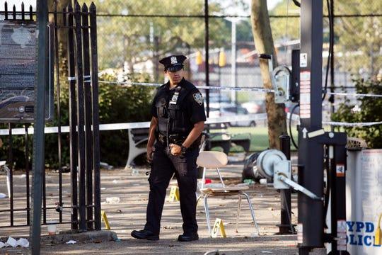布碌崙(布魯克林)布朗斯維爾(Brownsville)一個遊樂場發生槍擊案。美聯社