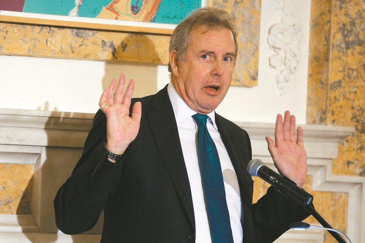 英駐美大使達洛許在密電中批評美國總統川普。 (法新社)