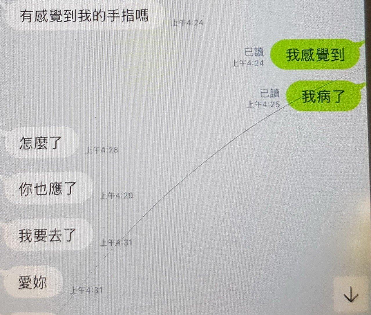 台南校園再傳狼師疑雲,家長出示曖昧LINE截圖對話,教育局調查中。 記者謝進盛/翻攝