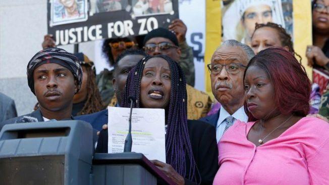 每當有非裔青年被警員射殺,就出現這種抗議警察暴力記者會。(美聯社)