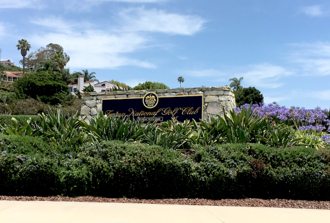 川普國家高爾夫俱樂部入口,低調坐落在PV南路。