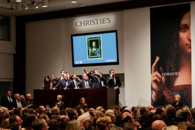 《救世主》以創紀錄天價在佳士得拍賣會上成交。(Getty Images)