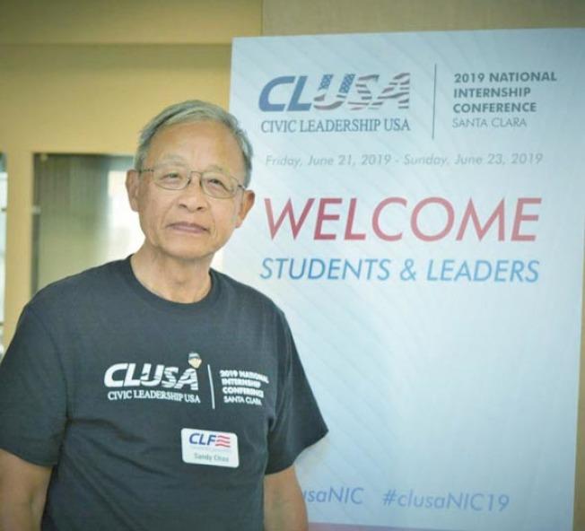沙加緬度訊CLUSA創辦人朱偉人(Sandy Chau)。(特約記者錢曉莉/攝影)