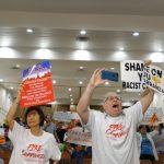 卡蘭扎華埠會議 西語發言引激烈抗議 等中文翻譯到場再繼續