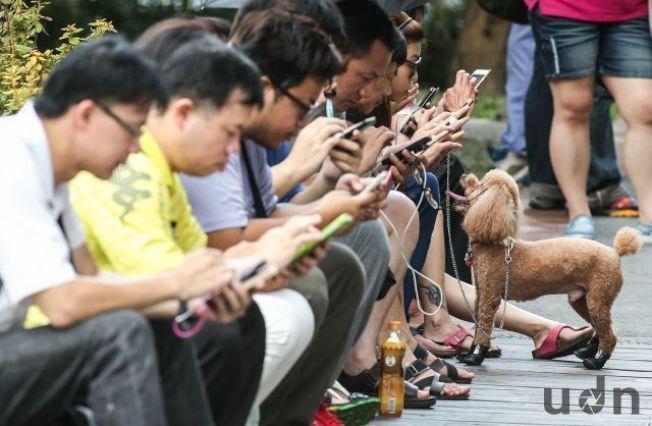 現代人幾乎人手一機,若常姿勢不變低頭滑手機,可能會造成椎間盤突出。(本報資料照片)