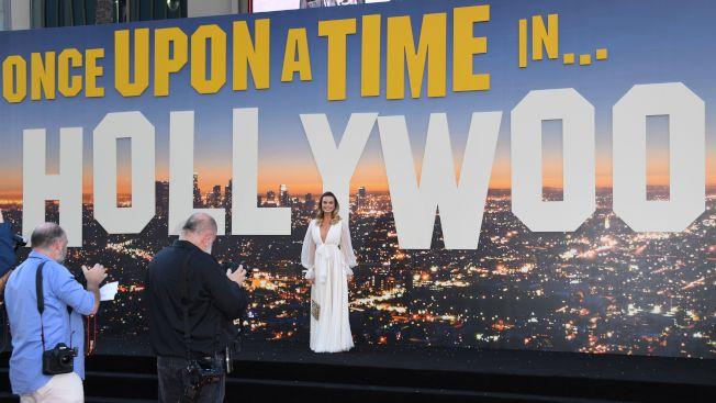 「從前,有個好萊塢」在好萊塢首映。(Getty Images)
