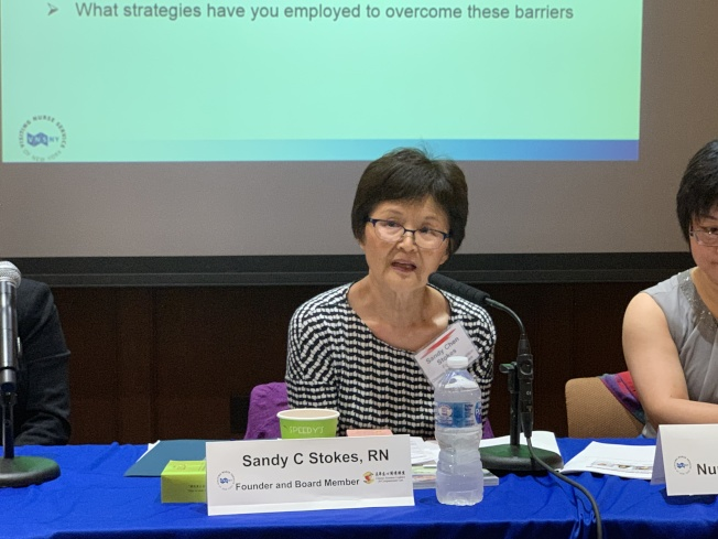 陳明慧表示,華裔較少使用臨終關懷較少的另一大原因是無法獲取準確而全面的資訊,主因語言障礙。(記者和釗宇/攝影)