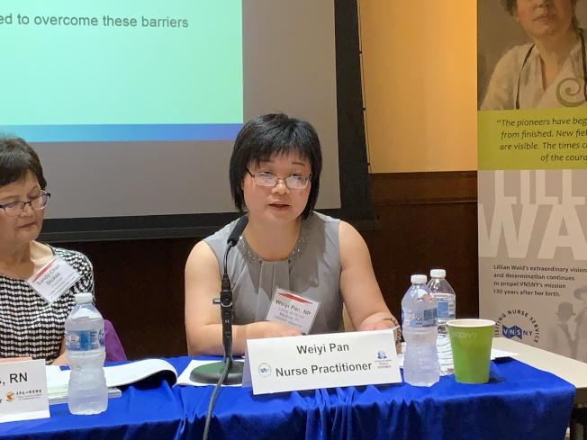 潘煒怡表示,華人的傳統觀念讓華裔社區較少談論死亡,更害怕自己在家中去世,讓房子變成凶宅。(記者和釗宇/攝影)