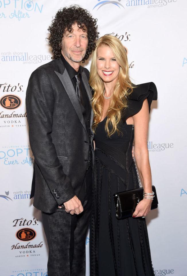 霍華史登與妻子貝絲。(Getty Images)