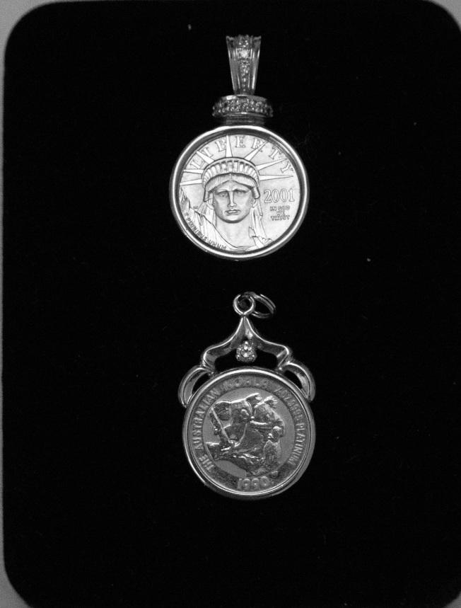美國勝利女神和澳洲無尾熊白金幣。