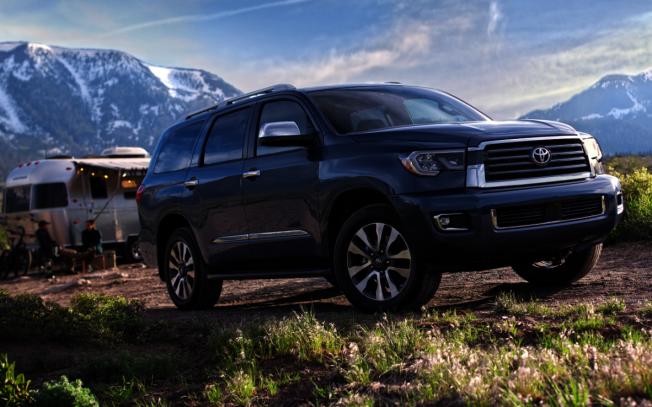 豐田Sequoia排名第三,平均每年行駛1萬3665哩。(豐田)